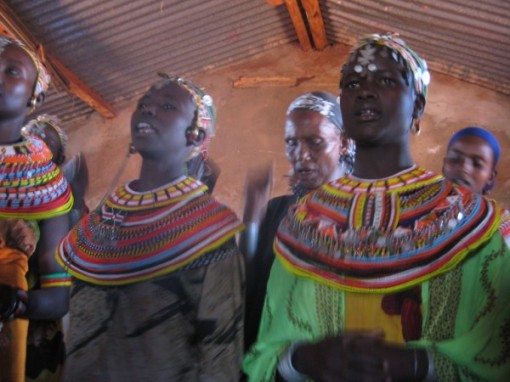Samburu women in a Parkishon, Kenya church.